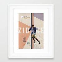 zidane Framed Art Prints featuring #10 Zidane by Filippo Maniscalco