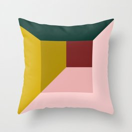 Abstract room Throw Pillow