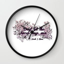 Don't let the hard days win - ACOMAF Wall Clock