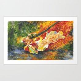 November - Tatsuta Hime - Art Print