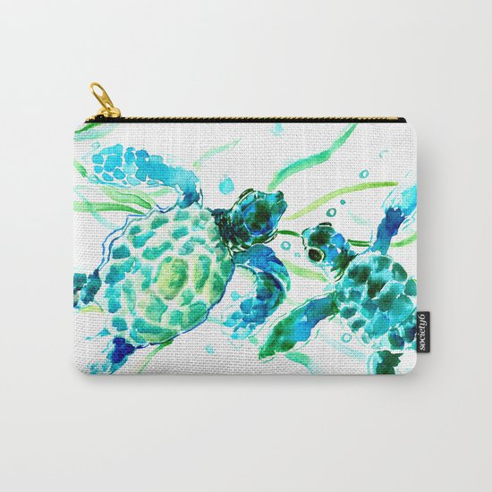 Sea Turtles, Turquoise blue Design by sureart
