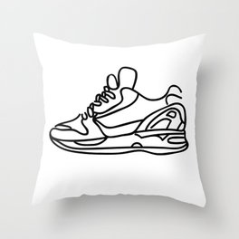 Sneakers Outline #1 Throw Pillow