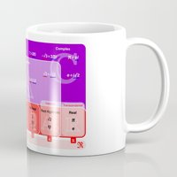 numbers Mugs featuring The numbers by tuditees