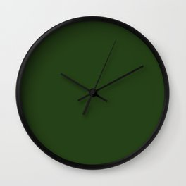 Dark Forest Green Color Wall Clock