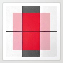 August - gray graphic Art Print