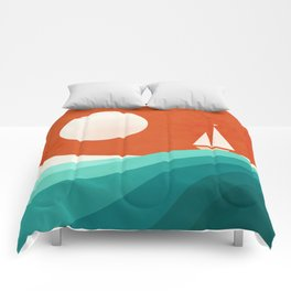 Wave (night) Comforters