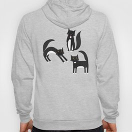 Black and White Cats Hoody