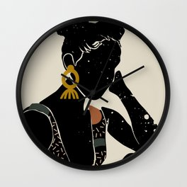 Black Hair No. 6 Wall Clock