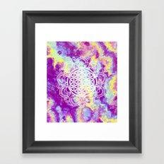 Flower Of Life (Batik 9) Framed Art Print