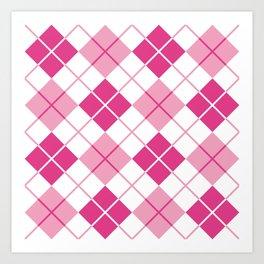 Argyle in Pink Art Print