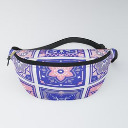 Talavera Mexican Tile – Pink & Periwinkle Palette Fanny Pack