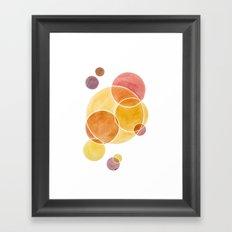 Blush Circles Geometric Framed Art Print