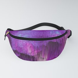 Shatter Falls - Abstract Glitch Pixel Art Fanny Pack