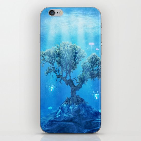 underwater tree iPhone & iPod Skin