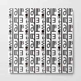 Joy (black & white) Metal Print