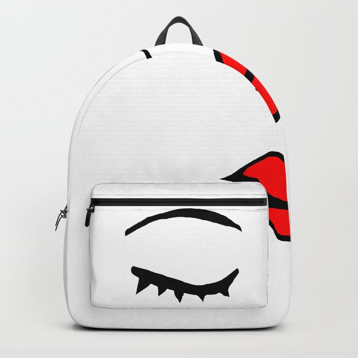 Style Girl Face Doodle Art Backpack By Desertsart Society6