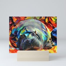The Last Hippo Mini Art Print
