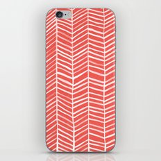 Coral Herringbone iPhone & iPod Skin