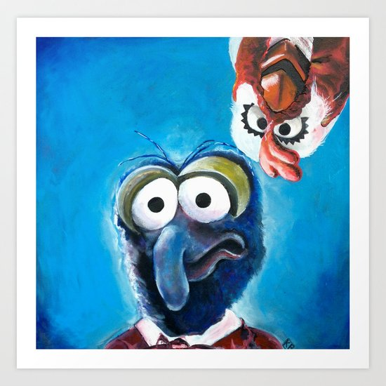 """Gonzo and Camilla Muppet Painting """"Still a Better Love Story"""" Art Print"""