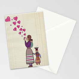 Boy mom ledger Stationery Cards