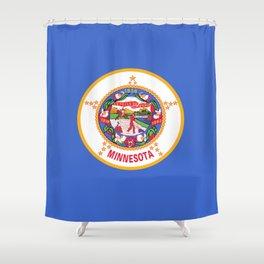 flag minnesota,america,usa,midwest,gopher state, north star,agate,minnesotan,Saint paul,minneapolis Shower Curtain