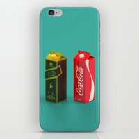 whisky iPhone & iPod Skins featuring Whisky Cola by Maxim Kirienko Art