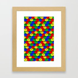 trippy building blocks Framed Art Print