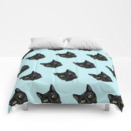 Black Cat Appreciation Day Comforters
