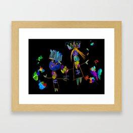King, queen and butterflies Framed Art Print