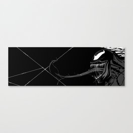 Black and White Pen Work Canvas Print