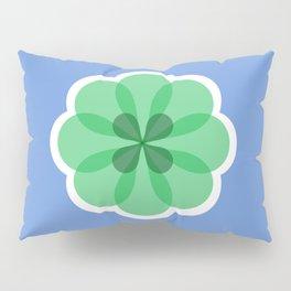 Purple and green geometric flower Pillow Sham