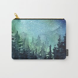 Galaxy Watercolor Space Night Sky Nebula Painting Aurora Carry-All Pouch