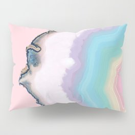 Rainbow Agate Slice Pillow Sham