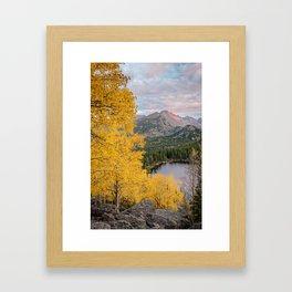 ROCKY MOUNTAIN AUTUMN PHOTO - COLORADO NATIONAL PARK BEAR LAKE IMAGE- LANDSCAPE NATURE PHOTOGRAPHY Framed Art Print