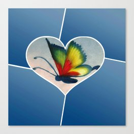 Butterfly Love - Blue Canvas Print