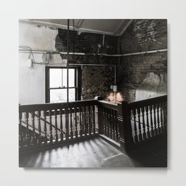 What Window What Stair Metal Print