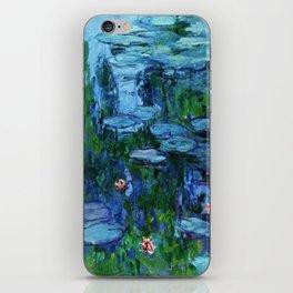 Claude Monet Water Lilies / Nymphéas deep iPhone Skin