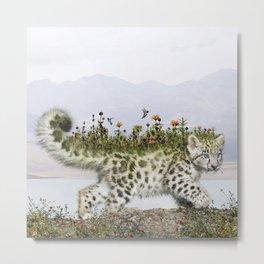 Flora Leopard Metal Print