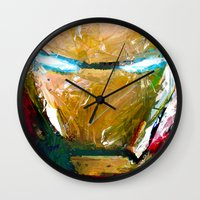 ironman Wall Clocks featuring IRONMAN by DITO SUGITO