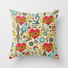 Scientific Tattoos Throw Pillow