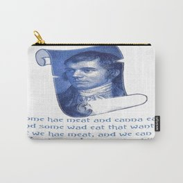 The Selkirk Grace Burns Night Supper Poem Carry-All Pouch