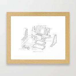 Korg VC-10 - exploded diagram Framed Art Print