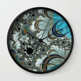 Snow Moons Fractal Wall Clock