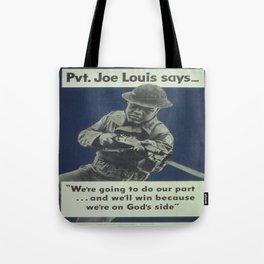Vintage poster - Private Joe Louis Tote Bag