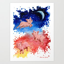 3 Pigs Art Print