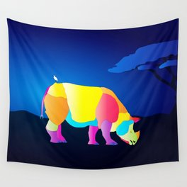 Paper Craft Rhino Wall Tapestry