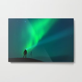 Photographer in Iceland Metal Print