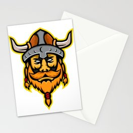 Viking Warrior or Norse Raider Head Mascot Stationery Cards