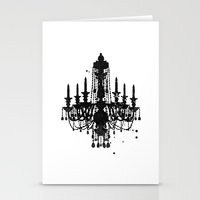 chandelier Stationery Cards featuring Chandelier by Steven Womack
