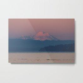 Sunset on Mount Baker Metal Print